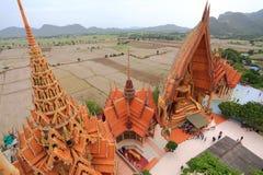 Big golden Buddha beautiful in Wat Tham Suea Stock Image