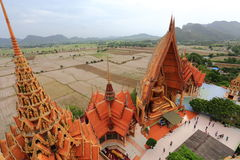 Big golden Buddha beautiful in Wat Tham Suea Royalty Free Stock Photos