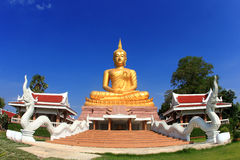 Big golden Buddha image Royalty Free Stock Image