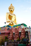 A big golden buddha image at golden triangle Stock Photography