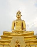 Big golden buddha meditating. Big golden color buddha meditating name pastor Sothon royalty free stock photos