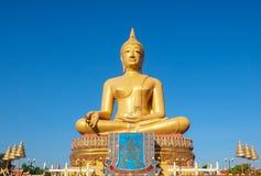 BIG GOLDEN BUDDHA IN SINGBURI THAILAND. BIG GOLDEN BUDDHA IN PIKUL THONG TEMPLE SINGBURI THAILAND stock photo
