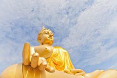 Big Golden Buddha statue Stock Photo