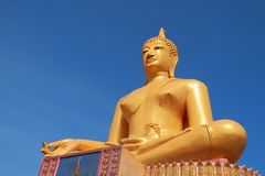 Big golden Buddha statue Royalty Free Stock Photos