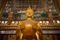 Big golden buddha statue Royalty Free Stock Images