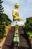 Big Golden Buddha Statue, Phra Buddha Kitti Sirichai. Phra Buddha Kitti Sirichai, Phra Mahathai Chedi Phakdi Prakat, Bang Saphan, Prachuap Khiri Khan Stock Photos