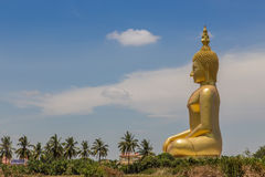 Big  golden buddha statue Stock Photography