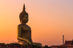 Big golden buddha statue, Thailand Royalty Free Stock Image