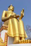 Big Golden Buddha Statue. In Thailand Stock Photo