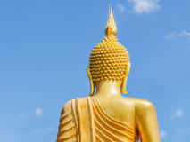 Big Golden Buddha statue in Thailand temple Royalty Free Stock Photography