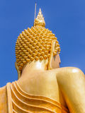 Big Golden Buddha statue in Thailand temple Stock Images