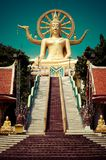 Big golden Buddha statue. Thailand Royalty Free Stock Image