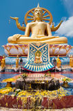 Big golden Buddha statue in Wat Phra Yai Temple Royalty Free Stock Photos