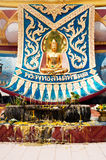 Big golden Buddha statue in Wat Phra Yai Temple Stock Photos