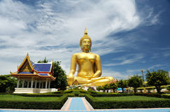 Big golden Buddha statues in thailand Royalty Free Stock Images