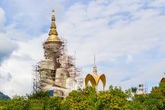 Big golden buddha under construction Royalty Free Stock Images