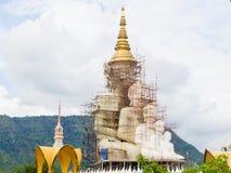 Big golden buddha under construction Royalty Free Stock Image