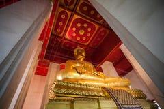 Big golden buddha at Wat Mongkol Bophit Stock Image