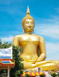 Big golden Buddha at Wat Muang of Ang Thong province Royalty Free Stock Photography