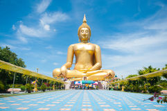 Big golden Buddha at Wat Muang of Ang Thong province Thailand Royalty Free Stock Photography