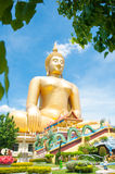 Big golden Buddha at Wat Muang of Ang Thong province Thailand Stock Photography