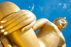 Big golden Buddha at Wat Muang of Ang Thong province Thailand Royalty Free Stock Image