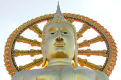 The Big Golden Buddha at wat pra yai, koh samui, Thailand, Publi Royalty Free Stock Photography