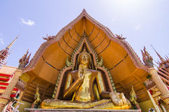 A big golden buddha at wat thum sua, karnchanaburi, thailand Stock Image