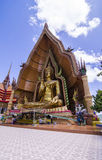 A big golden buddha at wat thum sua, karnchanaburi, thailand Royalty Free Stock Photo