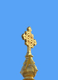 Big golden cross Royalty Free Stock Photos