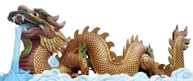 The big golden dragon Stock Images