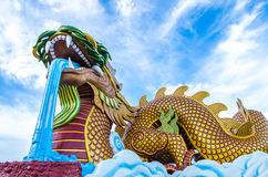 Big Golden dragon Royalty Free Stock Photos