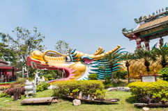 Big golden dragon Stock Images