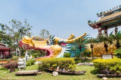 Big golden dragon Stock Images