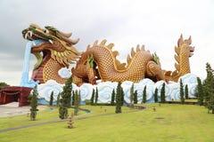 Big golden dragon Stock Image