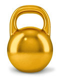 Big golden dumbbell Royalty Free Stock Images