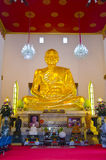 Big golden figure of Phra Mongkol Theb Muni (Luang Poh Wat Pak N Royalty Free Stock Image