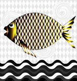 Big golden fish Stock Photos
