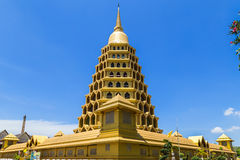 Big golden pagoda in thai temple Stock Photo