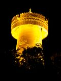 Big golden prayer wheel at night Royalty Free Stock Photos
