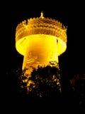 Big golden prayer wheel at night Royalty Free Stock Photos