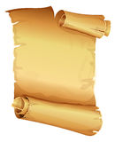 Big golden ribbon scroll of parchment Stock Photo