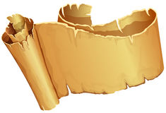 Big golden scroll of parchment Royalty Free Stock Photography