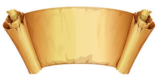 Big golden scroll of parchment Stock Photos