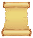 Big golden scroll of parchment Stock Image
