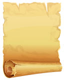 Big golden scroll of parchment Royalty Free Stock Photos