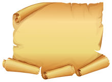 Big golden scroll of parchment Stock Photography