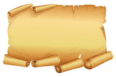 Big golden scroll of parchment Stock Images