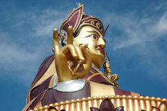 Big golden statue of Padmasambhava in Rewalsar,India Stock Photography