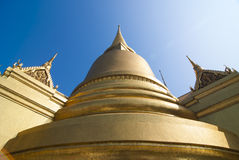 Big golden stupa in Grand Palace Stock Images